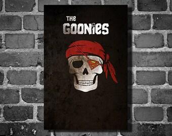 The Goonies poster movie art minimalist poster geekery art print sci fi print One Eyed Willie home decor wall art