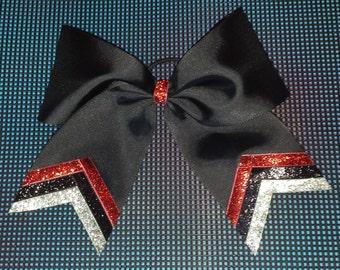 Black Triple Sparkle Bow
