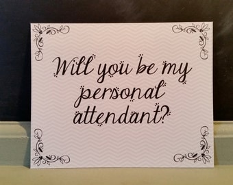 Personal Attendant Card - instant download