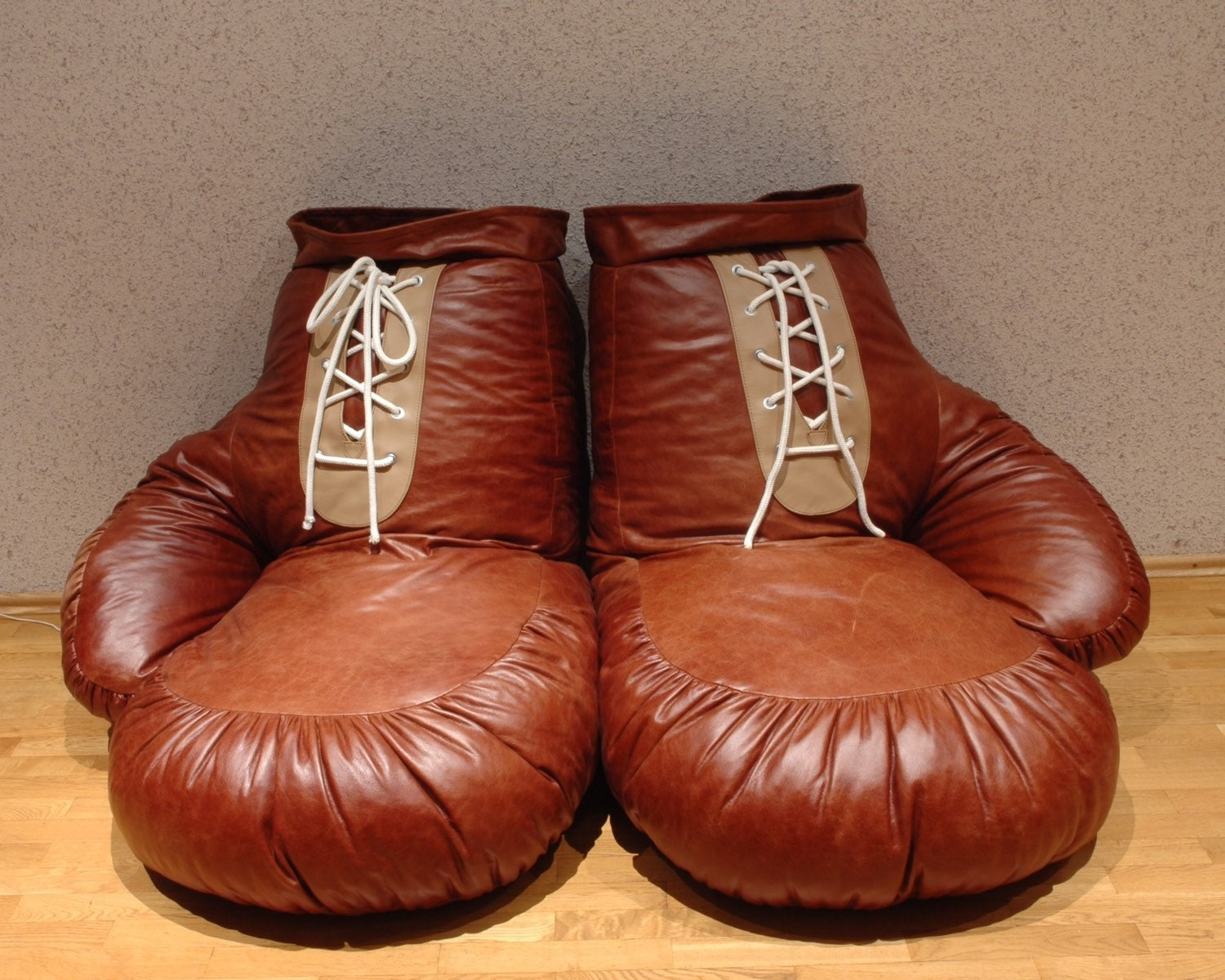 vintage look leather boxing glove chair bean bag by ornald on etsy. Black Bedroom Furniture Sets. Home Design Ideas