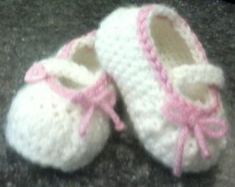 Crochet Booties, Baby Girl Booties, Handmade Baby Booties, Baby Booties
