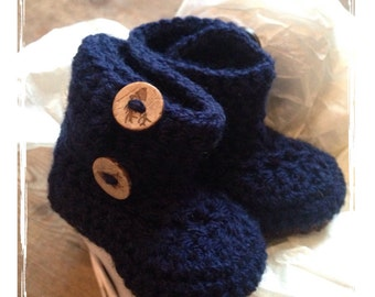 Blue baby bootees, blue crochet bootees, baby crochet, baby bootees, baby boy bootees, winter bootees, crochet, baby boy booties