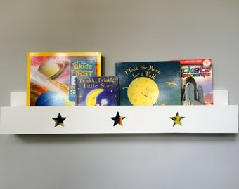 Book Shelf Ledge With Stars White