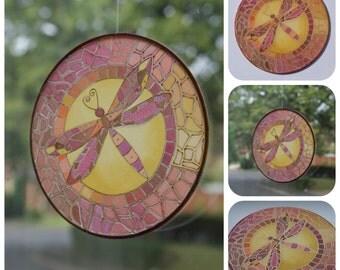 Autumn Dragonfly Sun Catcher
