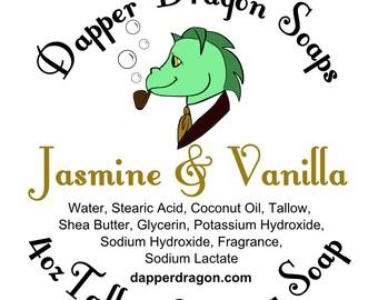 Shaving Soap SAMPLE - Jasmine & Vanilla w/ Tallow