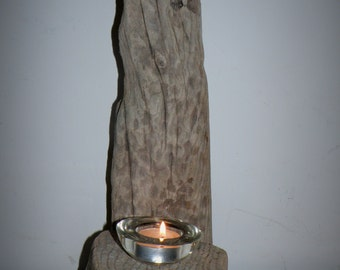 Freestanding Driftwood Candle Holder