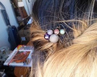 Mixed Stone Hair Pin