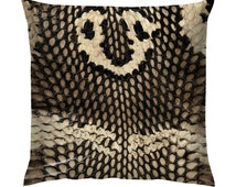 "Snake Skin Texture Cushion/Pillow 18"""