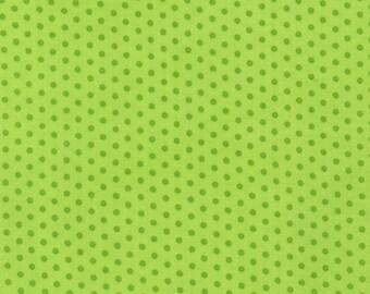 Robert Kaufman Small Polka Dots 100% Cotton from Spot On Chartreuse
