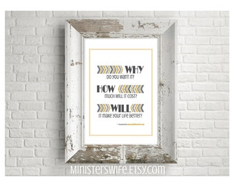 Why How Will Inspirational Art Printable
