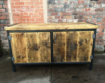 r cup ration industrielle chic buffet commode bois m tal bar. Black Bedroom Furniture Sets. Home Design Ideas
