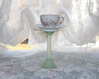 Vintage Pastel Tea Cup Centerpiece, Wonderland Mad Hatter Tea Party Teacup Candle Holder