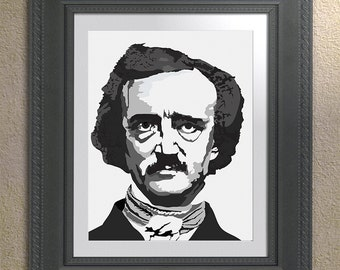 Edgar Allen Poe 5 x 7 inch printable artwork