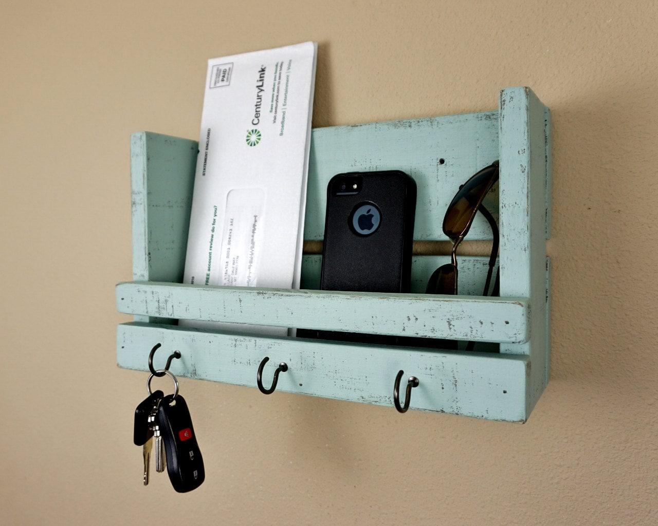 Shabby Chic Key Holder And Mail Organizer By