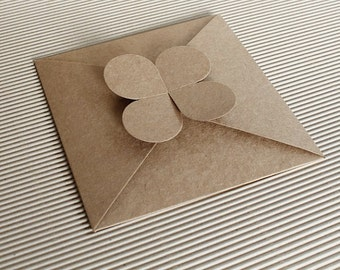 """Premium Kraft Envelope , DIY craft envelope 5.5"""" x 5.5"""" * 20 pcs"""