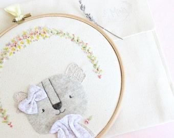 Embroidery hoop art | Bastidor decorativo Koala
