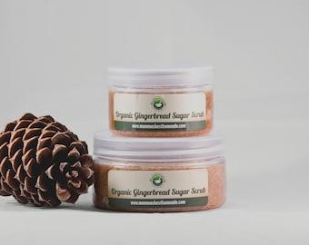 Sugar Scrub, Body Scrub, Organic Skincare, All Natural Skin Care, Exfoliating Scrub, Coconut,Gingerbread,Christmas Stocking,Stocking Stuffer