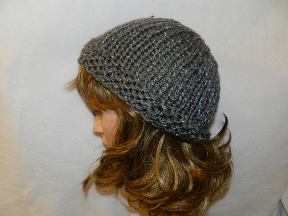 Knitting Patterns For Red Heart Reflective Yarn : Red Heart Reflective hand knitted warm slouch Hat V3