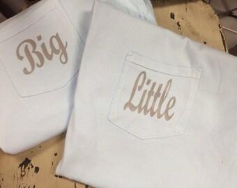 Big and Little Pocket Tshirts