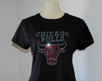 Rhinestone Chicago Bulls T-Shirt