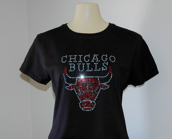 rhinestone chicago bulls t shirt. Black Bedroom Furniture Sets. Home Design Ideas