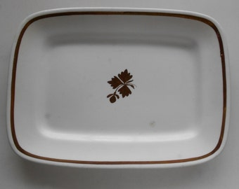 Platter 1800s Tea Leaf Royal Ironstone China Serving Dish Alfred Meakin England Pottery Vintage Antique