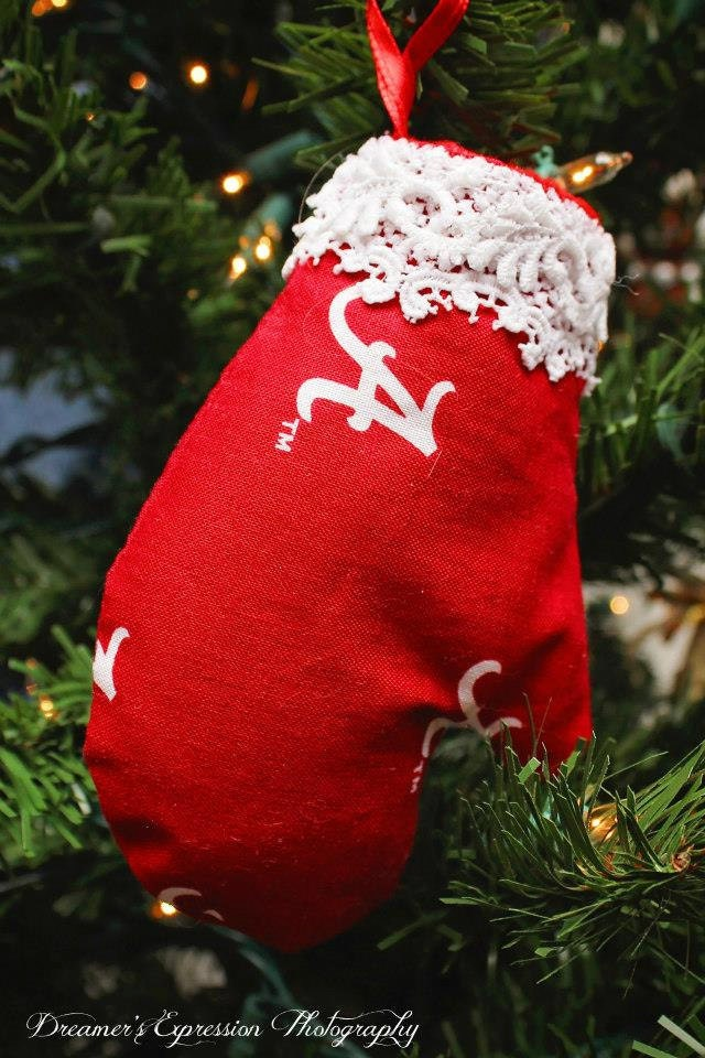 University of Alabama Christmas Ornament; Alabama Mitten Ornament; Role Tide Christmas Ornament