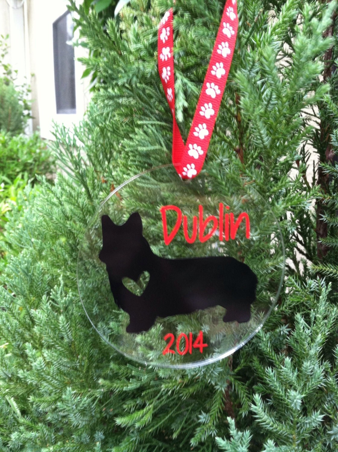 Personalized Dog Themed Holiday Ornament