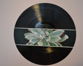 Unique Painted Record Related Items Etsy