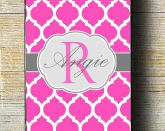 PInk Quatrefoil iPhone 6 Case, pink case, hot pink iphone case, iphone 5 case,  girly gift, iphone 6 plus case, iphone 6 case, custom iphone