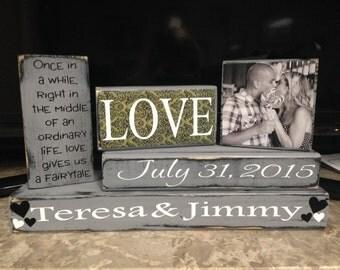 Personalized Wedding/Engagement Blocks
