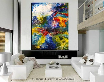 """Acrylic Handmade Painting Abstract Painting GALLERY ARTWORK - 36""""-, Original Acrylic Oil Painting on Canvas Contemporary Painting Wall Art"""