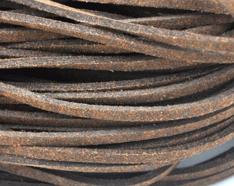 10 meters of  brown Faux Leather Ribbon Cords String--- 2.5mm---S0212