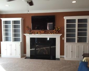 Handmade, solid wood, custom bookcase