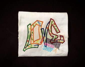 Graffiti Love-- EMBROIDERY DESIGN ** INSTANT Download!**