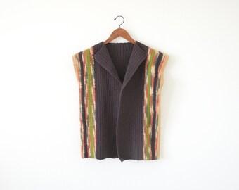 SALE ~ 70s Chunky sweater vest / southwestern vest