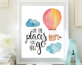 Oh the places you will go on etsy a global handmade and for Places to get room decor