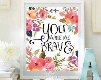 Positive Art Quote Print wall decor inspirational quotes nursery decor Kids Wall Art Teen Room Decor Motivational quote art print ID109-109