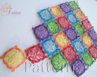 "Tatting Pattern PDF""Patchwork Necklace"""