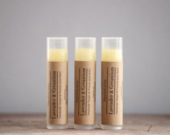 Lavender And Geranium Temple And Pressure Point Balm| Handmade