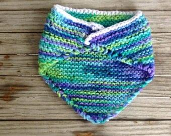 """Hand Knit 18"""" Doll Shawl"""
