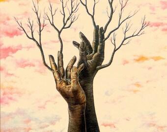 Hands tree / Original painting