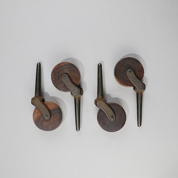 Large Antique Casters Rosewood Casters Tester Bed Casters