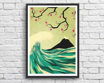 Art-Poster 50 x 70 cm - Japan Colors (The wave)