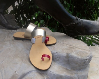 Handmade GOLD leather sandals,ancient Greek sandals, handmade sandals, summer sandals