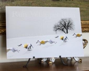 Whippet Winter Run Art (ZZ)