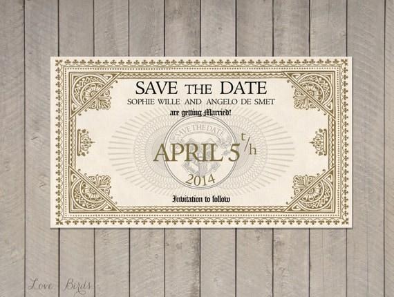 hochzeit einladung-save datum harry potter hogwarts expresszug, Einladung