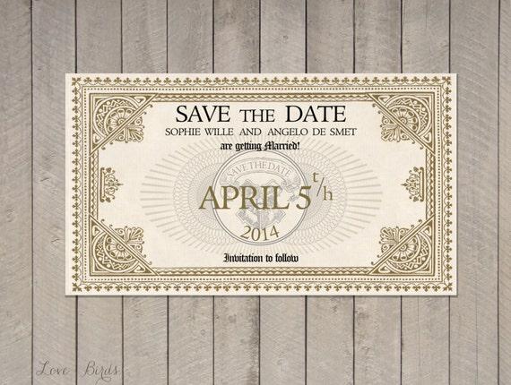 Mariage invitation-enregistrer le fichier Date Harry Potter