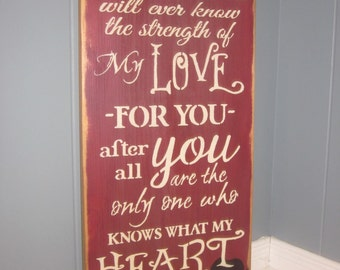 Handmade Wood Sign for Sound of My Heart