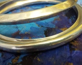 Set of 3 beautiful marked sterling bangle bracelets. Add to your bangle collection.